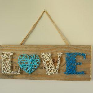 string art love coeur