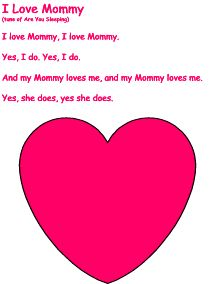 "mother's day songs, variation: last line can be sung ""loves me too, loves me too"""