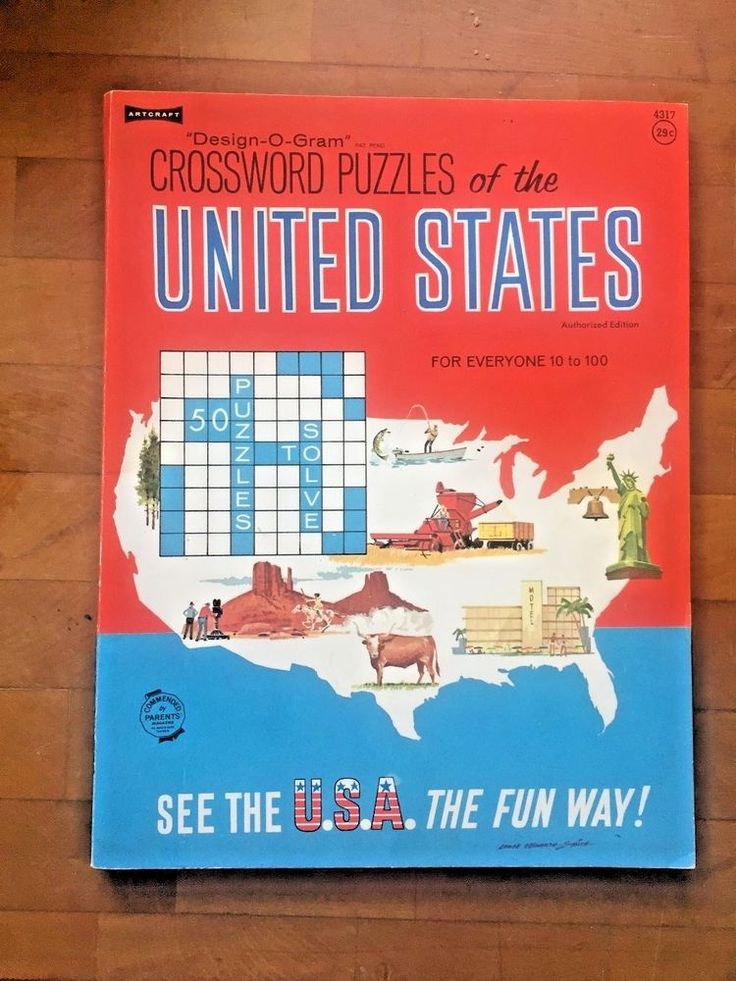 Book CROSSWORD PUZZLES OF THE UNITED STATES