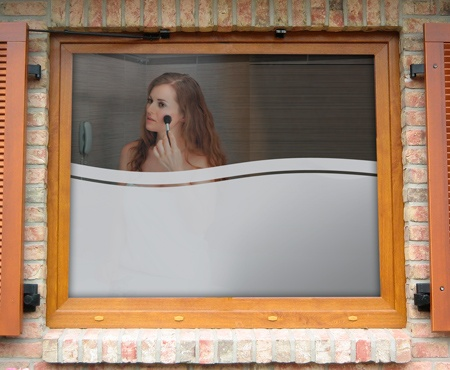 Eine Weiterentwickelte Folie Des Motives Welle: Welle Indian Ocean. Die  Fensterfolie Zeigt Eindrucksvoll Den. SichtschutzBadezimmerMotive