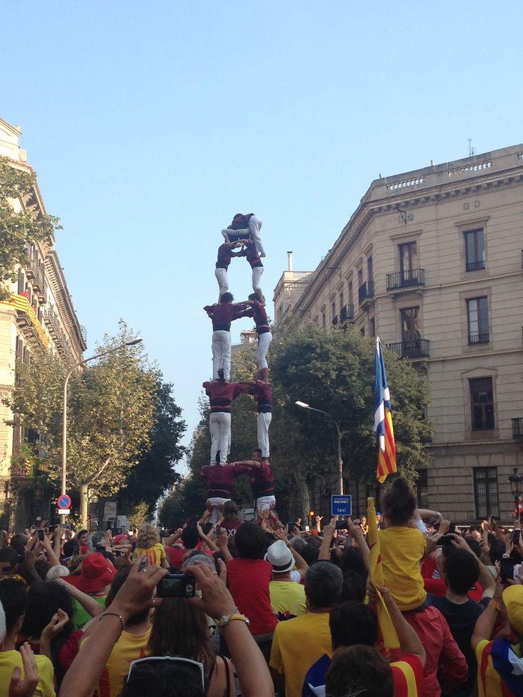 Human Tower, Día Nacional de Cataluña.