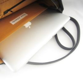 Take a look at the inside! Perfect workbag - everyday bag Handmade vegan leather.