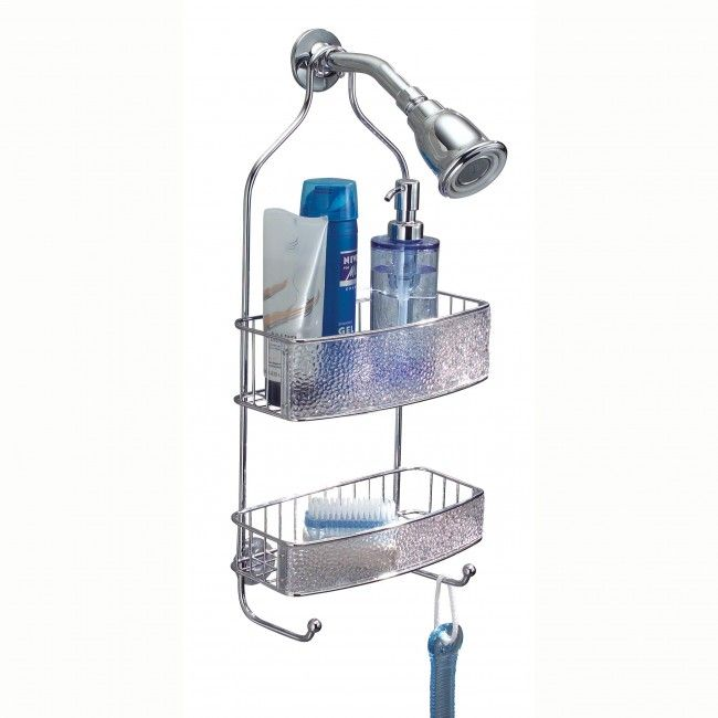 Add shelf space to your shower with an InterDesign Rain Shower Caddy. No installation necessary, just hang over your shower head.