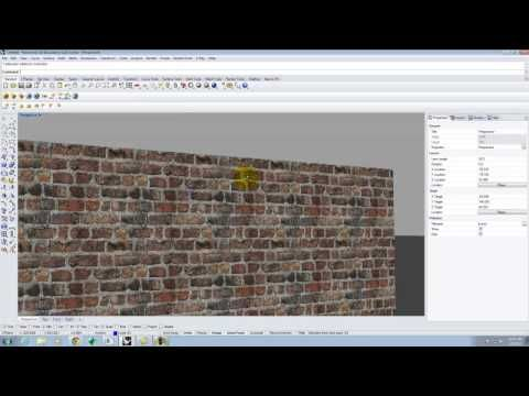 Lecture 208 - Texture Mapping in Rhino and V-Ray - Spring 2015 - YouTube