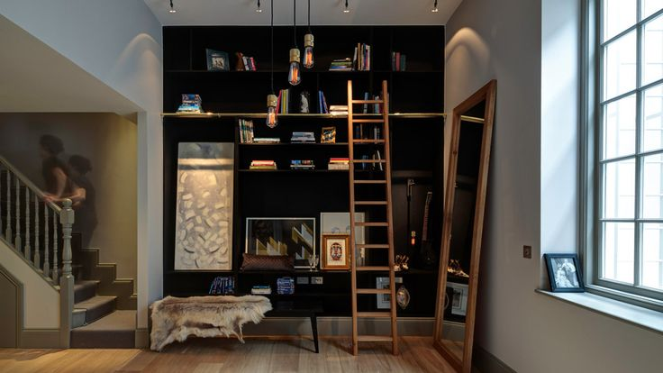 Shelves with ladder