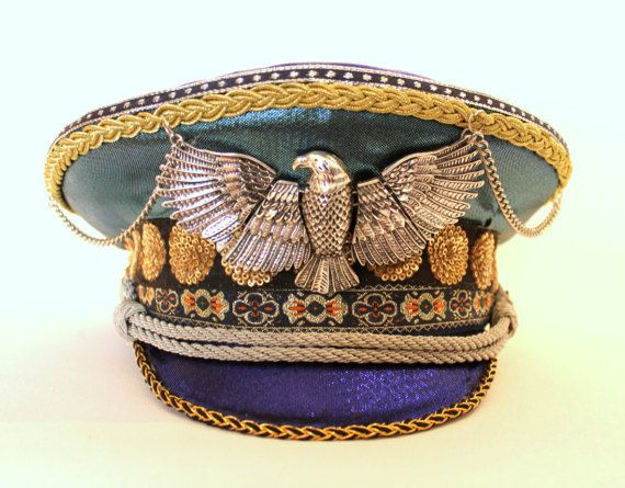 Hey, I found this really awesome Etsy listing at https://www.etsy.com/listing/511039555/golden-eagle-festival-captain-hat-by