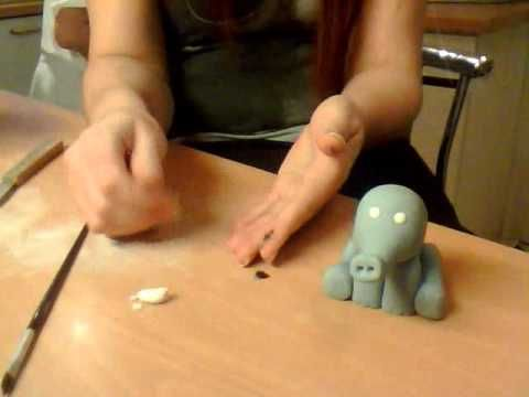 How to make a Fondant Elephant - YouTube