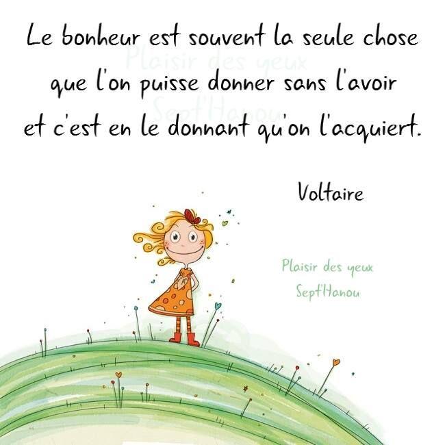 Bonheur, Voltaire