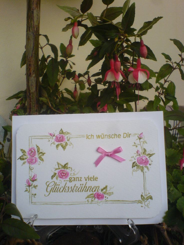 Karte/Card Roses/Rosen