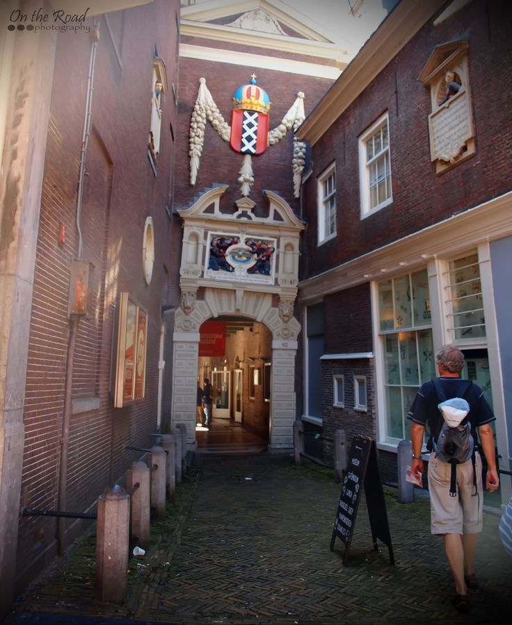 This is a side entrance to Amsterdam Museum in, well… Amsterdam. The Dutch city is quite famous for it's crooked, strange looking buildings and this is just one of the many examples in the old center.