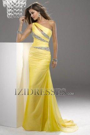 Sheath/Column One Shoulder Chiffon Prom Dress - IZIDRESSBUY.COM at IZIDRESSBUY.com