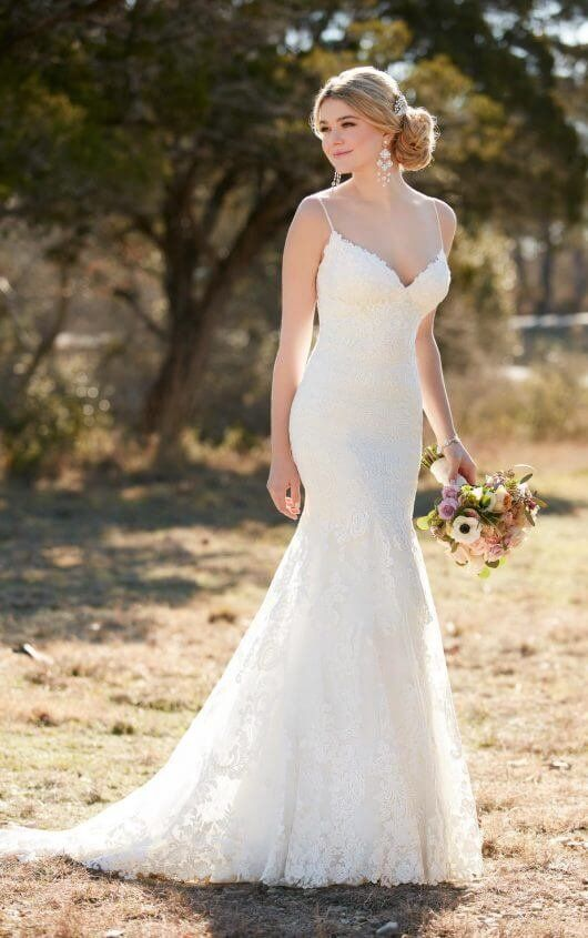 Perfect D Lace wedding dress with Diamante accents by Essense of Australia