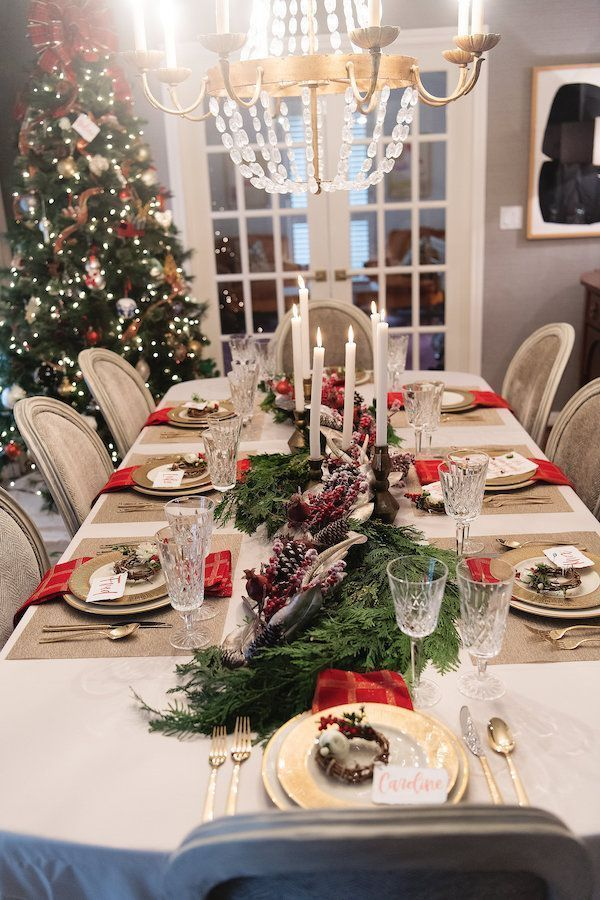 Caroline Shares Her Christmas Table Setting Christmas Dining Table Holiday Table Settings Christmas Table