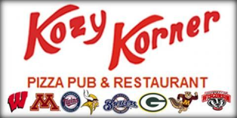 Big Badger game today and the best pizza! #kozykorner