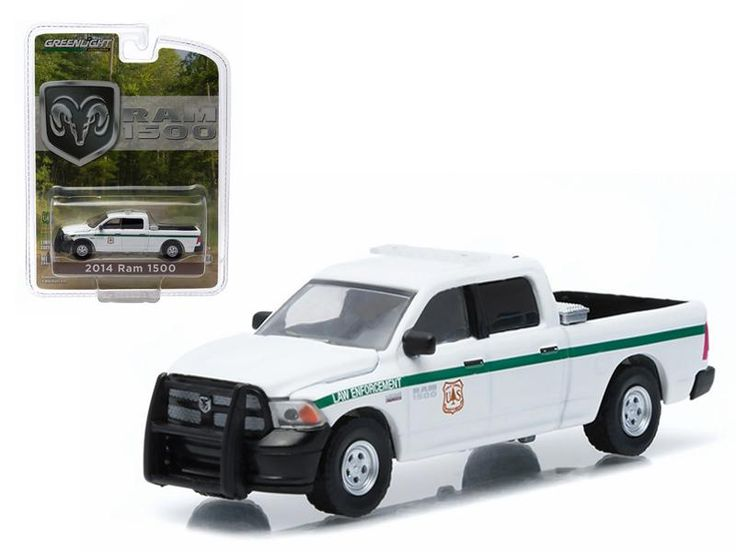 """2014 Dodge Ram 1500 United States Forest Service Police (USFS) """"Hobby Exclusive"""" 1/64 Diecast Model by Greenlight"""