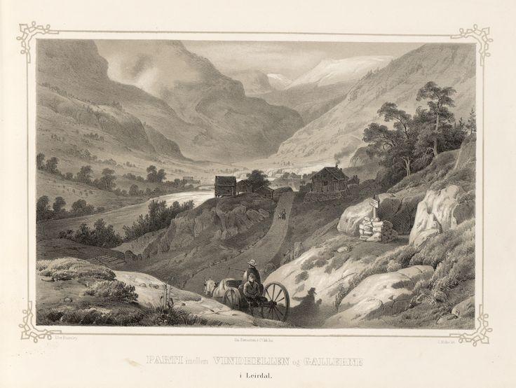 Norge fremstillet i Tegninger - Thomas Fearnley - Parti imellem Vindhellen og Gallerne i Leirdal. jpg (4896×3688)