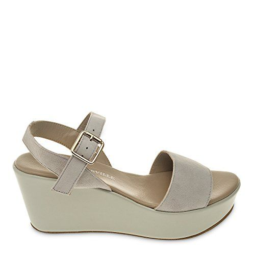 Roberto Durville Paris  Christine Womens Grey Suede Wedge Sandals 38 M EU >>> You can get more details by clicking on the image.(This is an Amazon affiliate link and I receive a commission for the sales)