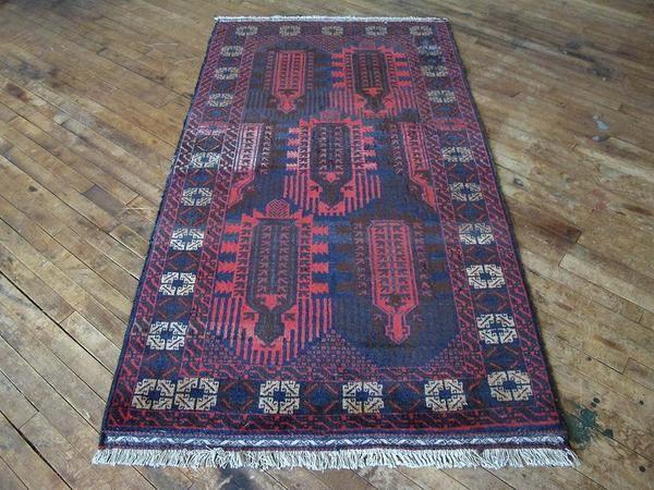 Red blue rug vintage rug vintage persian rug vintage living room rug vintage…