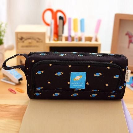 HOT Big Pencil case for Girls Boys kids kawaii School pencil case pencil box Bag Canvas School Supplies 66607