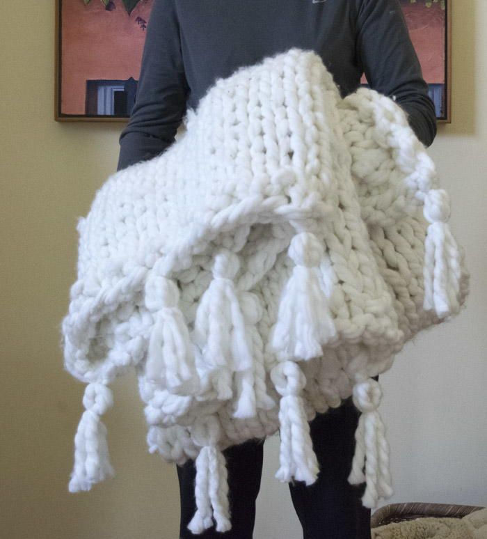 Chunky Funky One Day Blanket Free pattern, Warm and Knitting patterns