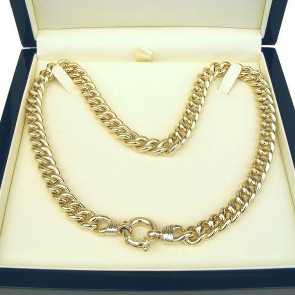 9ct Gold Round Curb Chain - HM-CUR-0005