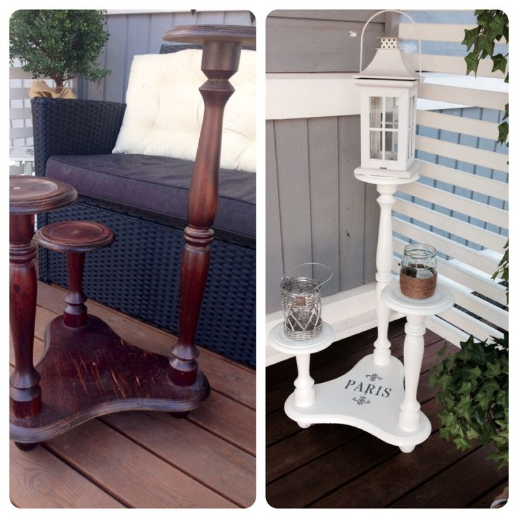 Old flower holder #beforeandafter #diy #paris #white