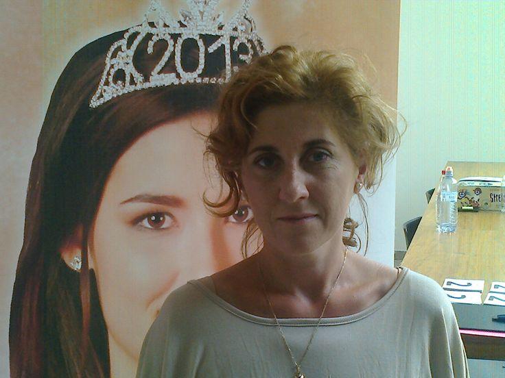 já jako vizážistka na Miss Aerobik 2014
