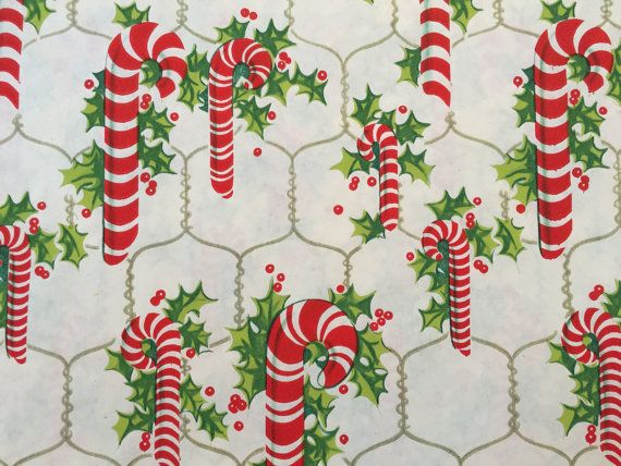 Vintage Gift Wrapping Paper Candy Cane by TheGOOSEandTheHOUND