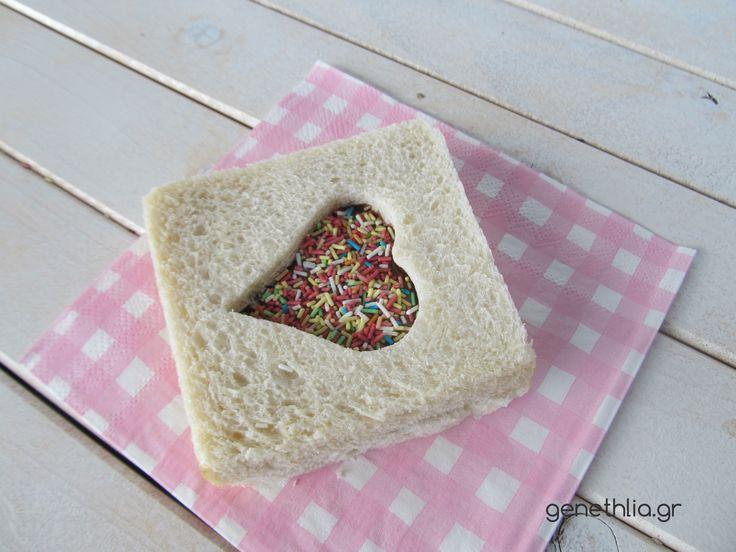 Easy and cute nutella sandwiches!- σαντουιτσακια με μερεντα