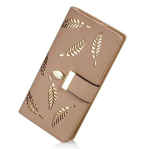 Long Women Wallets Fashion Hollow Design Laides Purse Made of PU Leather Luxury Women Long Clutch Female Wallets Large Capacity