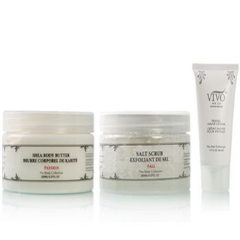 Dreaming about your Cruise, your Island getaway, a long-overdue Vacation or just need to crush Winter's dry, itchy skin? Vivo Per Lei's luxurious Dead Sea Minerals Body Care Set will make you sparkle & totally confident for whatever lies ahead... Purchase Vivo Per Lei Butter & Scrub, get the Body Lotion 1/2 Price!