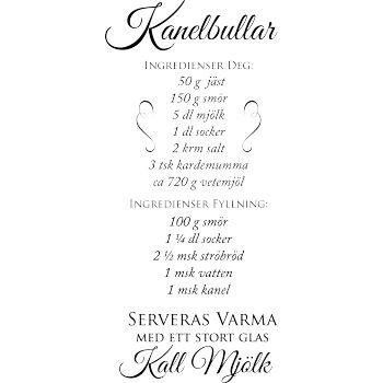Väggord: recept kanelbullar med fyllning