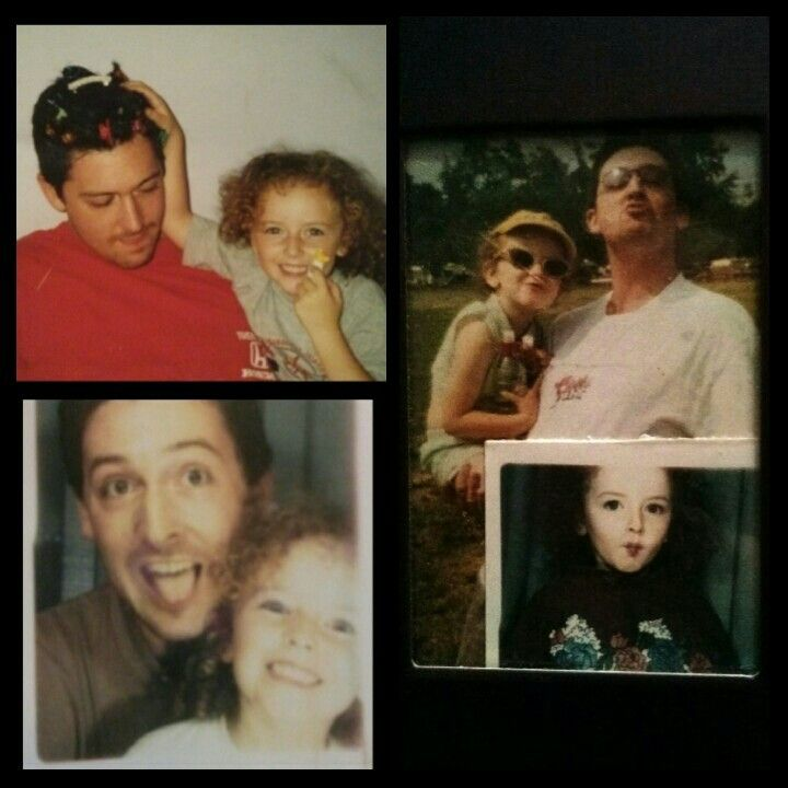 Throwbacks with dad and I from when I was little