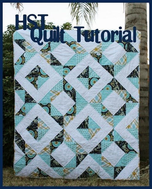 from quilt story - easy hst quilt! and modern, and pretty!