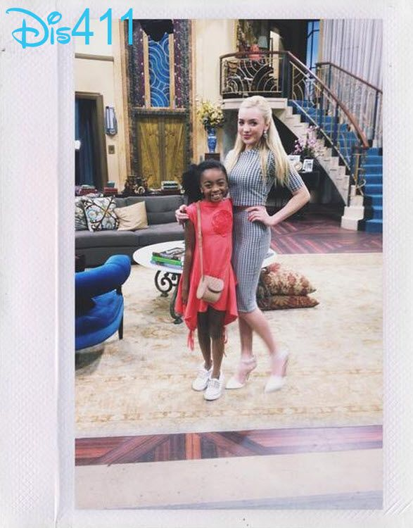 """Cute Photo Of Peyton List And Skai Jackson On The Set Of """"Jessie"""" March 21, 2014"""
