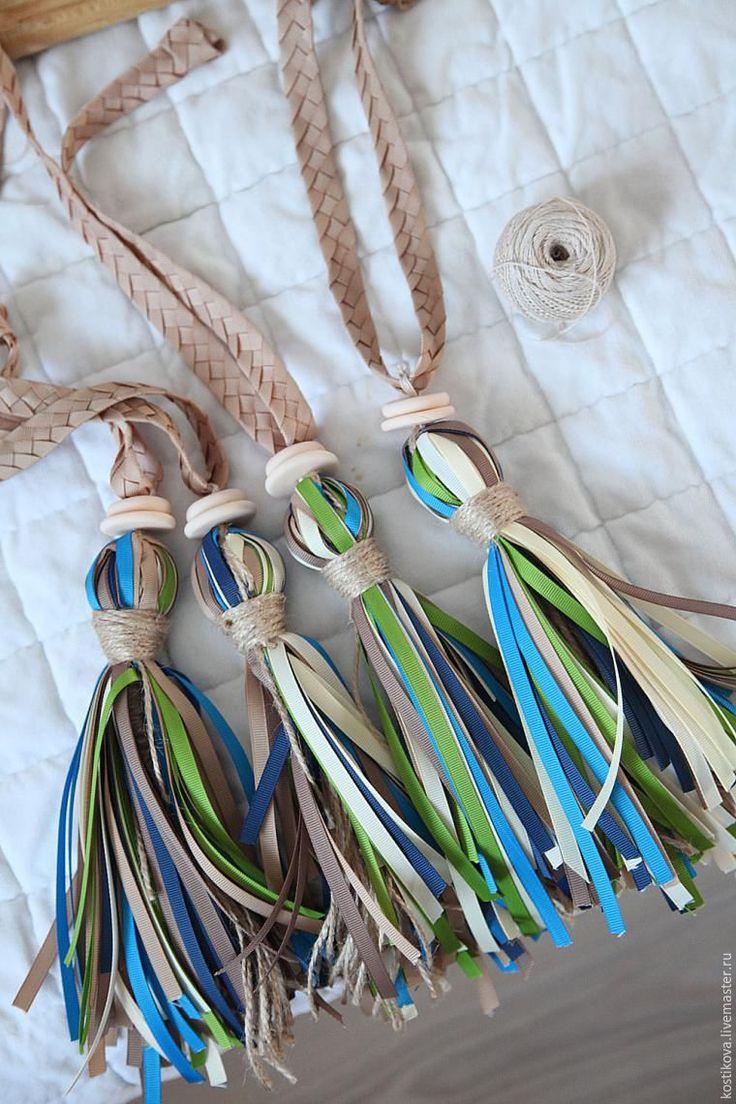 Как из репсовых лент сделать оригинальные кисти для штор - Ярмарка Мастеров - ручная работа, handmade