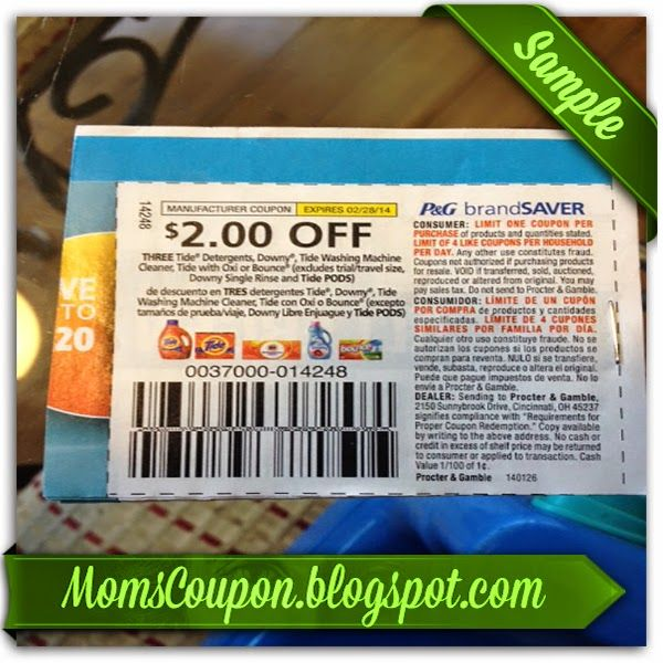 free printable Tide coupons 20% 2015
