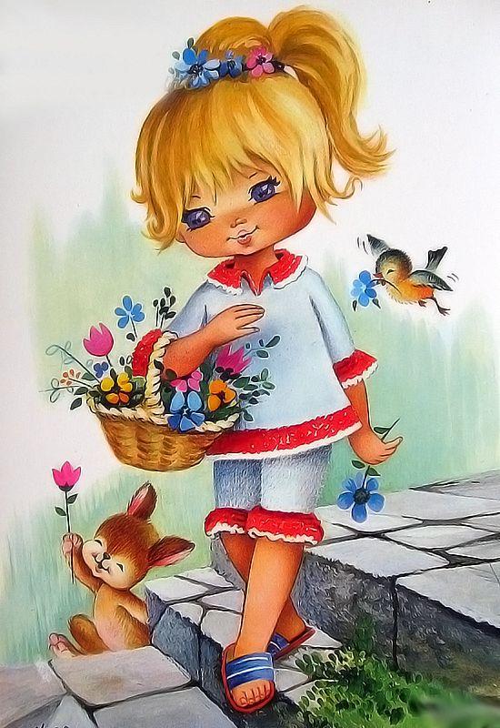 Иллюстрации дети в открытках, армянами
