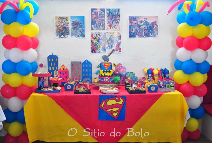 O Sitio Do Bolo A Festa Super Heris Para Gui As