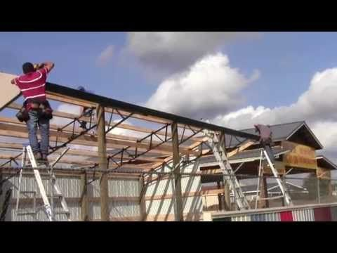 DIY How To Install A 16x36 Horse Run In Shed Or Loafing Shed With Steel  Trusses