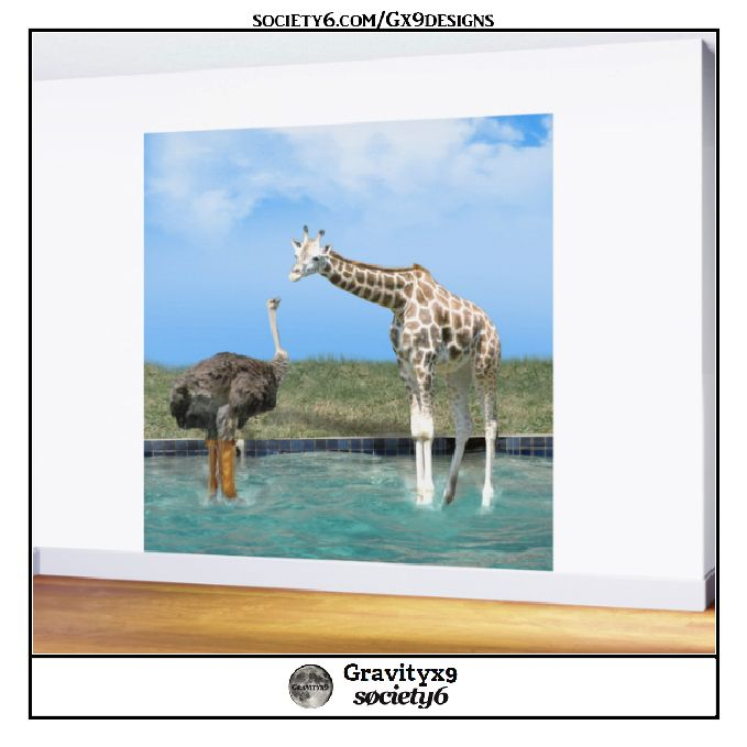 * The Ostrich with Galoshes Wall Mural by #Gravityx9 at # ...