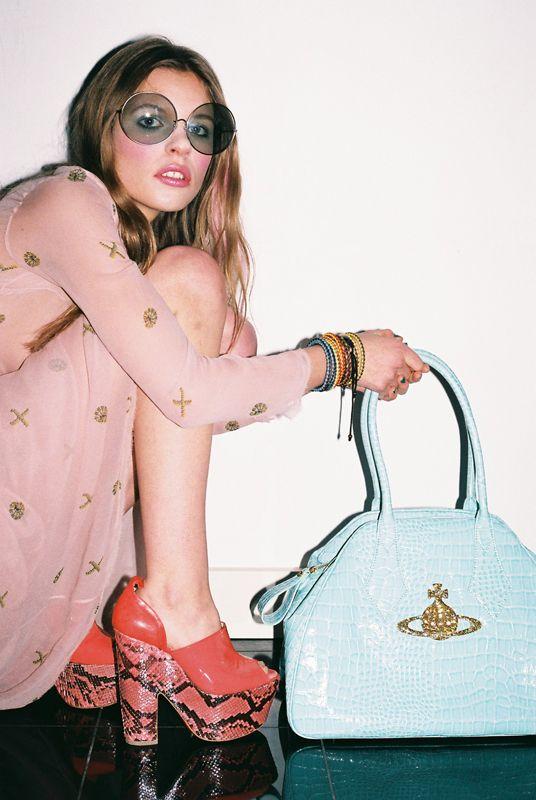 70's snapshot. Vivienne Westwood bag