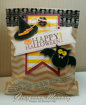 stampin up halloween treat bag by stampin everything - Stampin Up Halloween Ideas