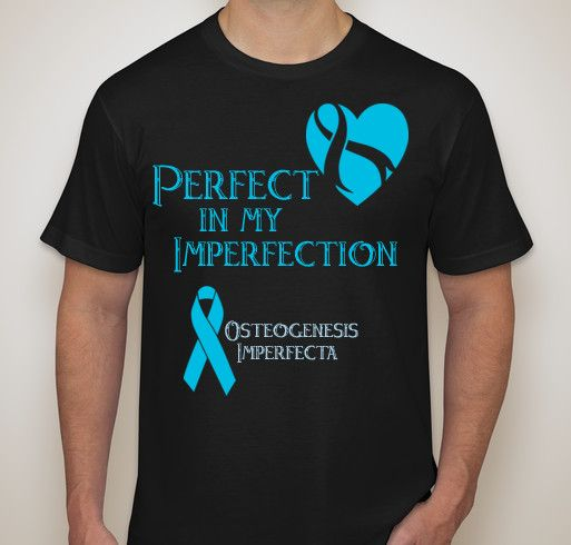 Osteogenesis Imperfecta Cure Research Fund Fundraiser - unisex shirt design - front