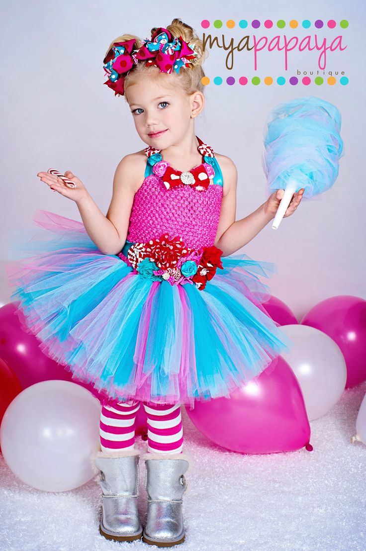 Cotton Candy Tutu Dress Set 12months-5t  Lalaloopsy, Candyland tutu, Cotton Candy tutu, Valentine's Day.