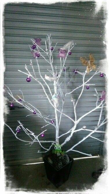 Natural Christmas tree, Made by Debra Hawkins, tree branch supllied by Katrina Dodge