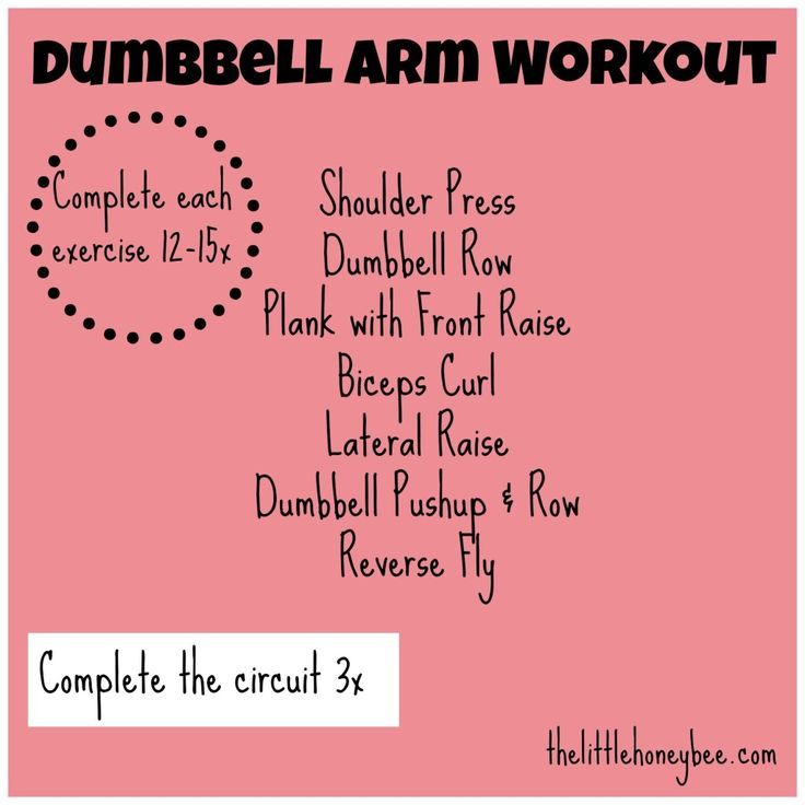 Best 25 Dumbbell Arm Workout Ideas On Workouts