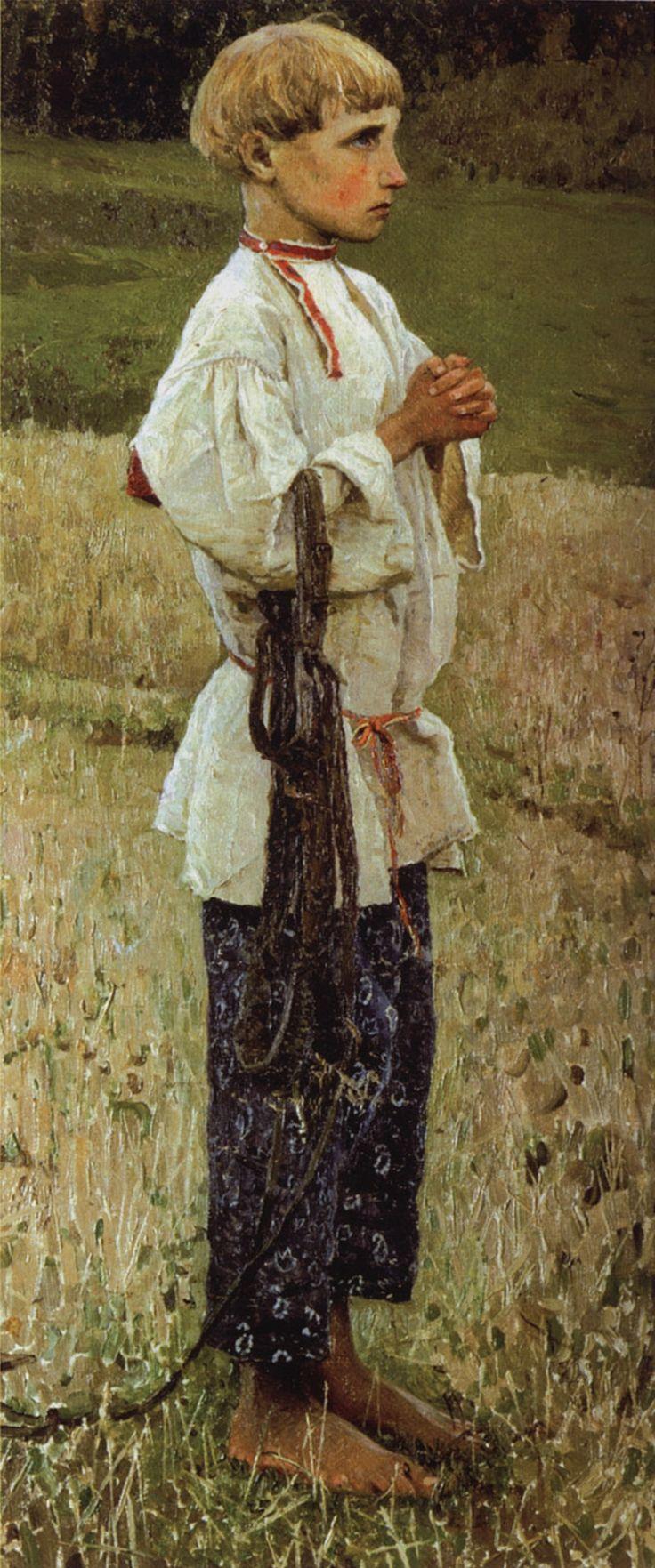 Youth Bartholomew Painting Mikhail Vasilevich Nesterov