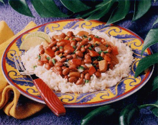 These Jamaican Red Beans And Rice Are So Tasty And Delicious.