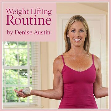 Working with weights can reduce blood pressure and boost heart function. Fitness pro Denise Austin shows you some simple moves.